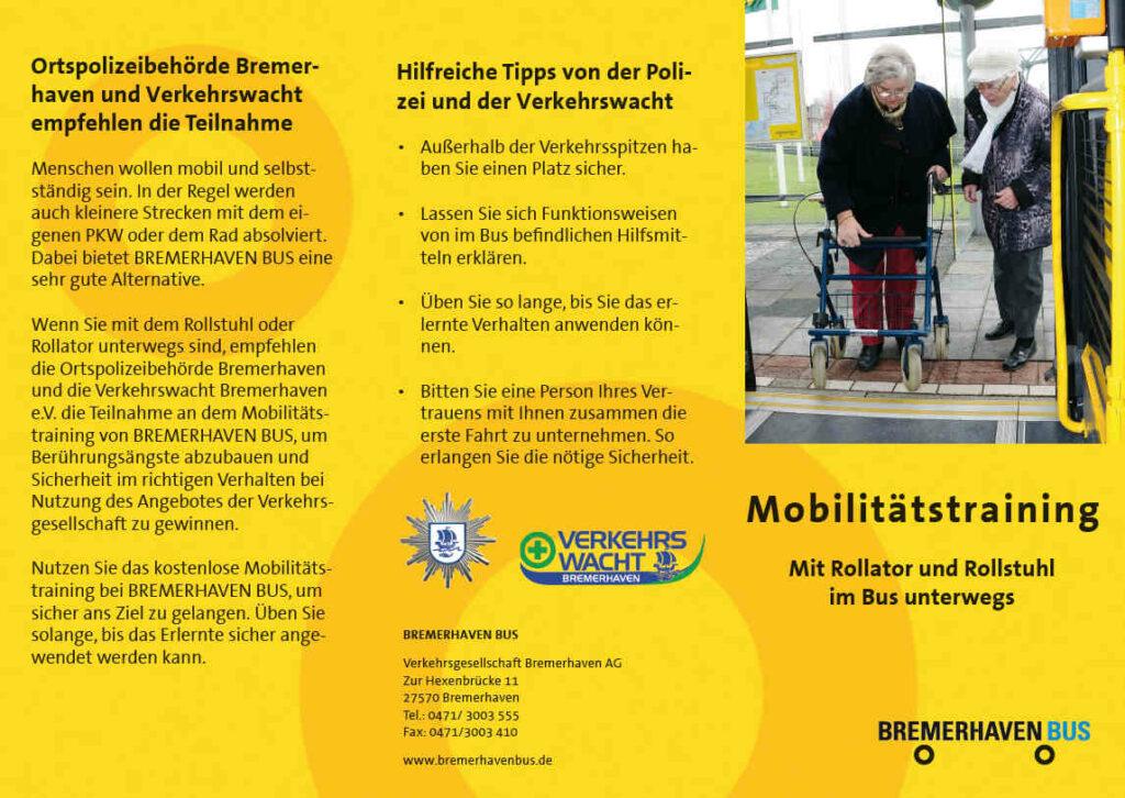 Flyer Mobilitätstraining